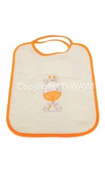 Bavoir girafe crème/orange
