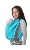 Echarpe de portage sans noeud Turquoise