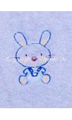 Bavoir lapin bleu