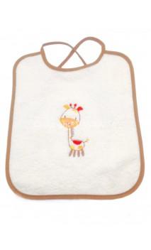 Bavoir girafe crème/marron